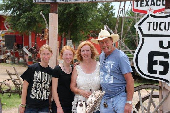 Tucumcari Trading Post: kids, me, Gary