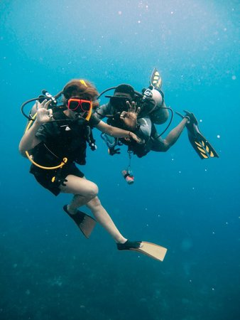 Sandals Negril Beach Resort & Spa: Scuba diving with Wayne Foster