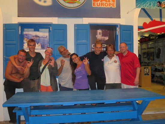 Aegean Divers Dive Center - Day Excursions: My sister and I with the Aegean divers crew.