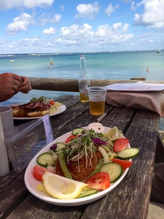 Studland beach and Nature Reserve: Fish cakes with a view!