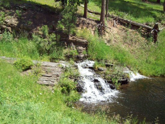 1880 Train/Black Hills Central Railroad: Small waterfall we saw from train
