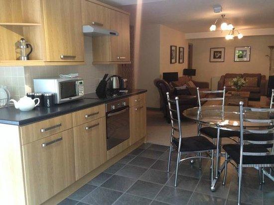Harrogate Boutique Apartments: View down main living space