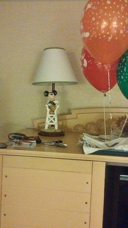 Disney's Paradise Pier Hotel : Mickey Lamp... whimsical.