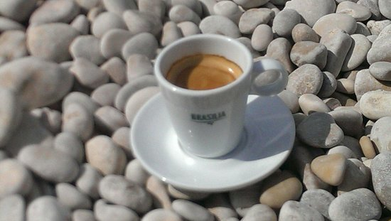 Playa La Granadella: Coffee on the beach of la Granadella