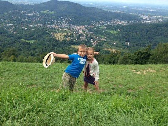 MerkurBergbahn: Nadia and Sasha at the top