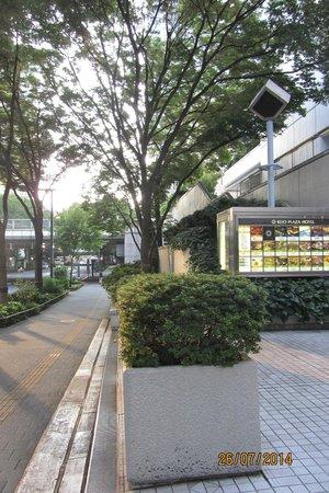 Keio Plaza Hotel Tokyo: Back of the hotel