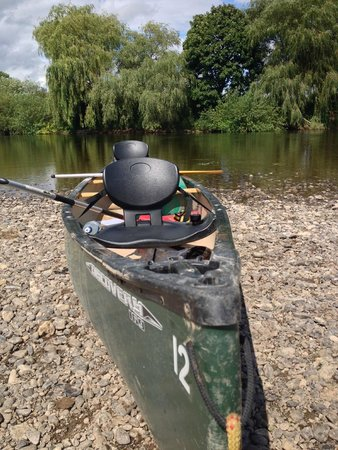 Wye Canoes Ltd: Our canoe with comfortable seats