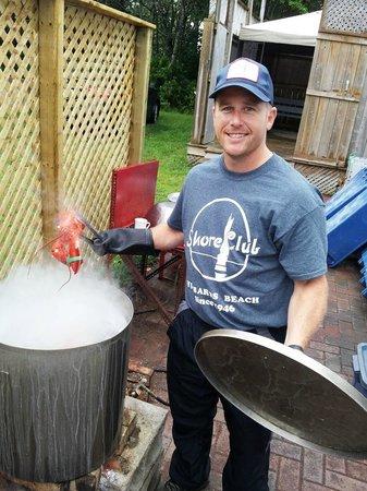 Shore Club Lobster Supper: Shore Club's hotty potman, Craig.