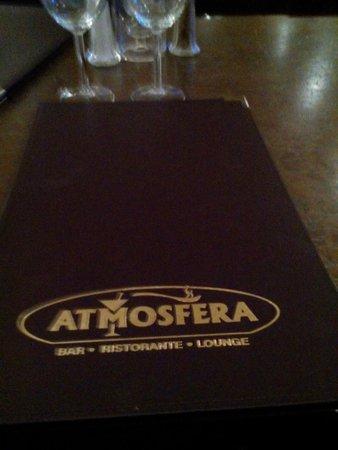 Atmosfera Restaurant Bar Lounge: Menu