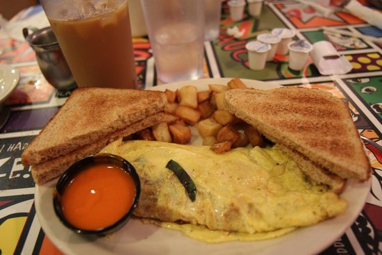 The Chicken or the Egg : Tuscany omelet with a side of medium sauce