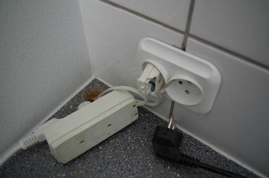 Copenhagen Airport Hotel / Dragor Badehotel : Zustand der Elektrizität: die Hälfte der Schalter funktionierte