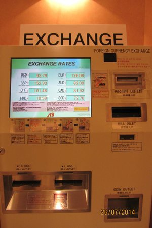 Keio Plaza Hotel Tokyo Currency Exchange Machine At The Lobby