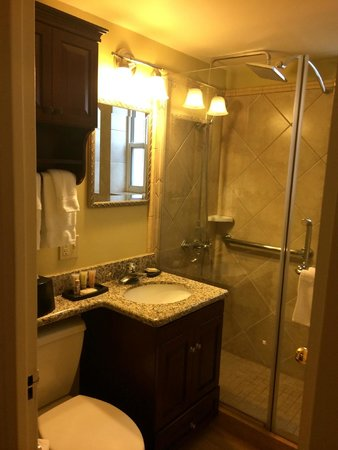 Avenue Plaza Resort: Bathroom in the studio unit