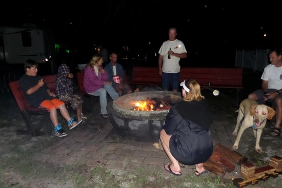 Palm Bay Kayaks: S'mores by the bonfire