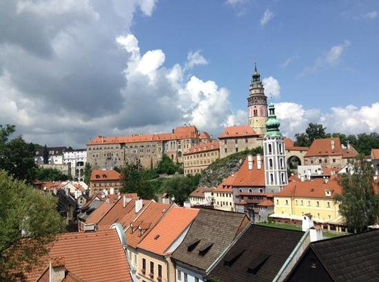 Historic Center of Cesky Krumlov: rooftop views