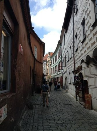 Historic Center of Cesky Krumlov: narrow pedestrian streets