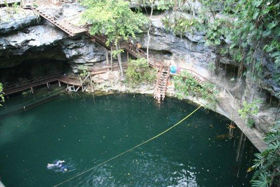 Ek Balam Mayan Ruins : Ek Balam Cenote