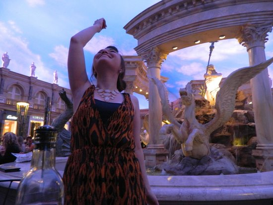 Trevi Italian Restaurant : Tossing a coin into the fountain!