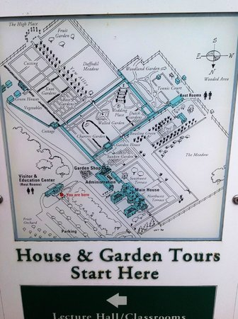 Map Of House And Gardens Picture Of Filoli Woodside Tripadvisor
