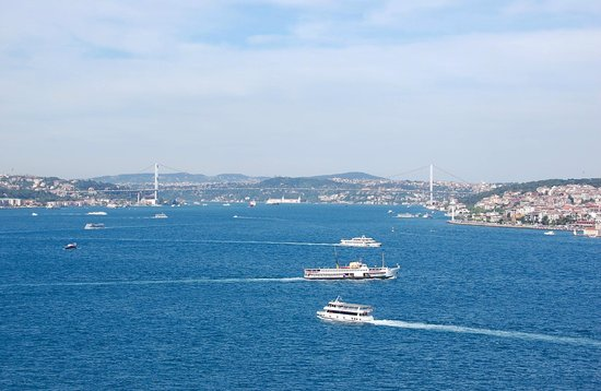 Bhosporus Strait and Bridge as seen from Topkapi Palace