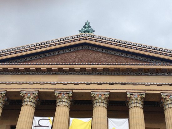 Philadelphia Museum of Art: Museum facade-detail