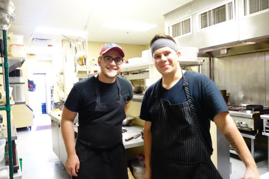 Wild Vine Bistro : We checked in with the Chef to thank him for a great meal!