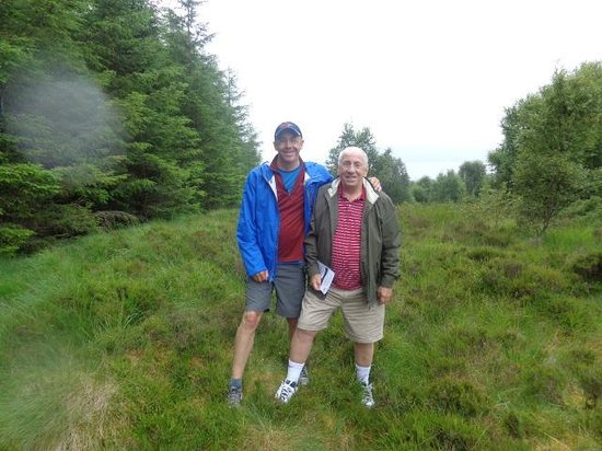 Highland Titles Nature Reserve: Laird Balfour of Guildwood (right) with son
