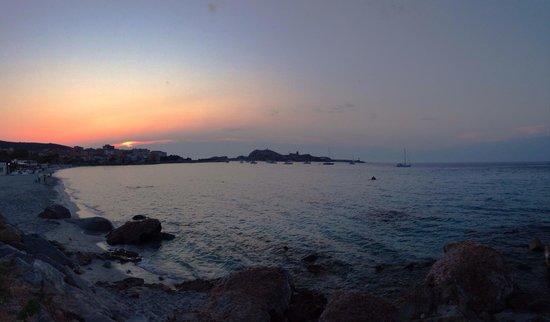 Acula marina : Cena con vista tramonto
