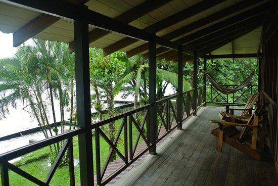Tortuga Lodge & Gardens : Espace devant la chambre