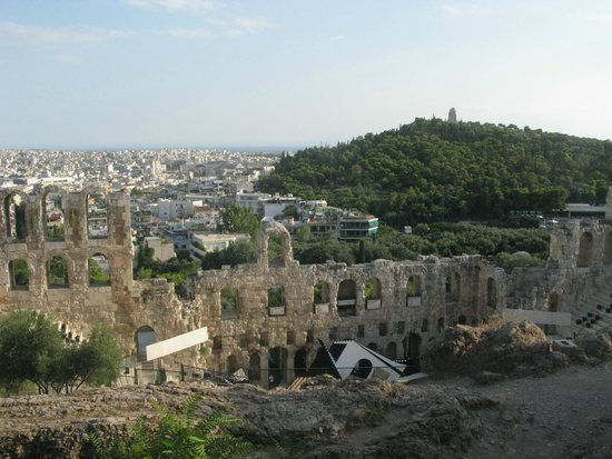 Herod Atticus Odeon : view from the Acropolis