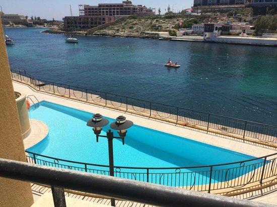 Marina Hotel Corinthia Beach Resort: View from room - sea view room