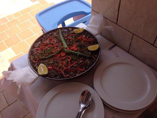 Mr. Bep's: Paella de verduras . Espectacular !!!