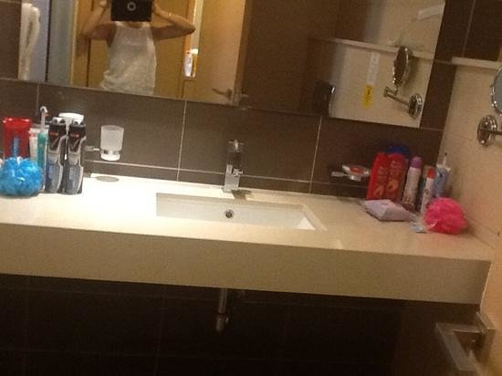 Island Blue Hotel : we loved our bathroom :D!!