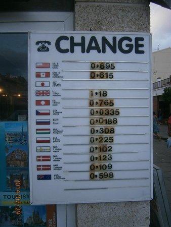 Hotel Merce: Обмен валюты в городе