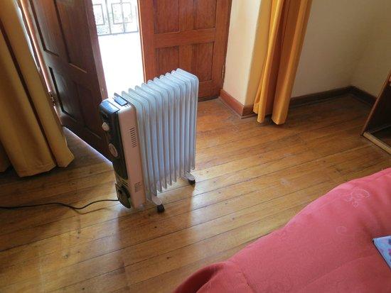 Hotel Sol: heater!