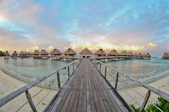 Conrad Bora Bora Nui : On our way to our room