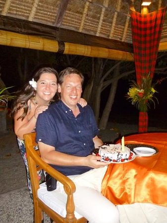Amertha Bali Villas: birthday cake at amertha