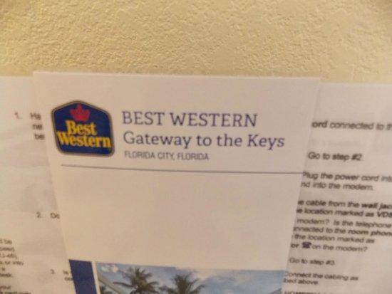 Best Western Gateway To The Keys: Brochure
