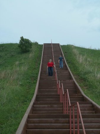 Cahokia Mounds State Historic Site : Some of the Stairs to the Top!