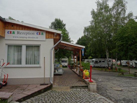 Camping Mockritz Dresden: Camping Dresden-Mockritz la reception