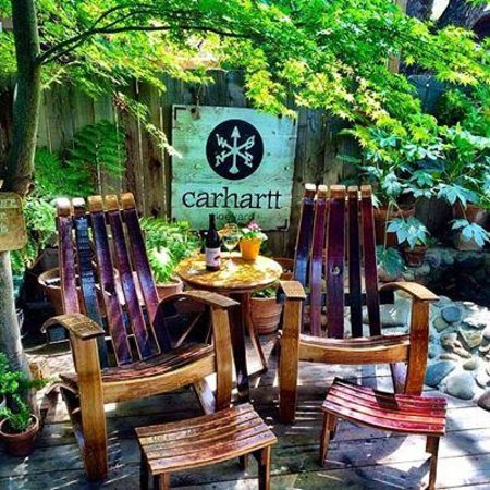 Relax in the Barrel Chairs!