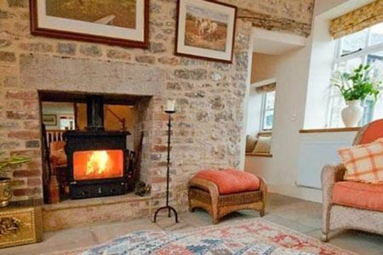 Double Sided Wood Burner In Farmhouse Picture Of Uppermoor