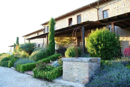 Casa Vacanze Scopeto: Terrasse am Haupthaus