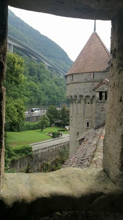 Chateau de Chillon : Vista de uma torre