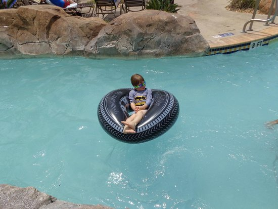 Regal Palms Resort & Spa: Grandson enjoying the Lazy River - Lazy Boy!