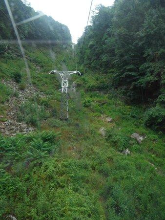 Pipestem Resort State Park: The aerial tram