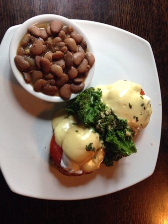 Acme Lowcountry Kitchen: Eggs Benedict-California style with Heirloom Tomatoes, Sautéed Kale and a side of (yes, brown) B