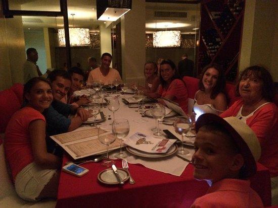 Dreams Palm Beach Punta Cana: Wine Cellar dining at Italian Restaruant