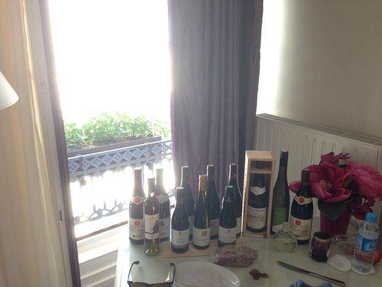 Grand Hotel des Terreaux: Wine we collected from the Rhone