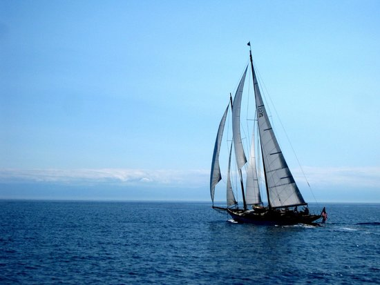 Orcas Island Eclipse Charters : A beautiful sloop.